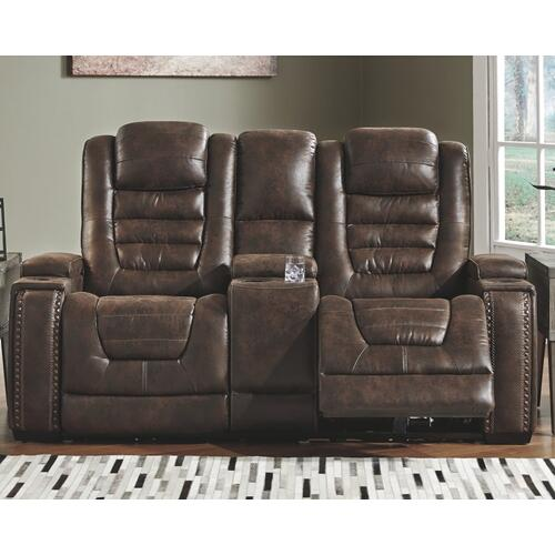 Game Zone Power Reclining Loveseat With Console