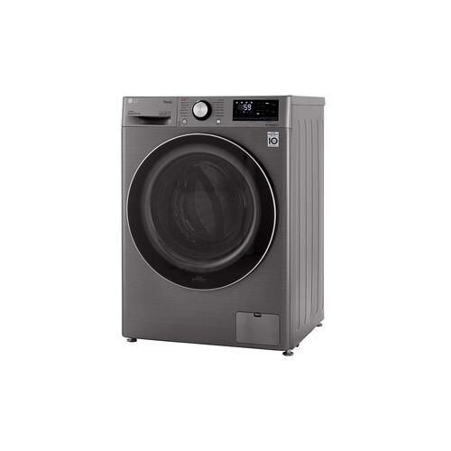 LG - 2.4 cu.ft. Smart wi-fi Enabled Compact Front Load Washer with Built-In Intelligence