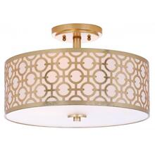 See Details - Vera 3 Light 15.5-INCH Dia Gold Flush Mount - Gold