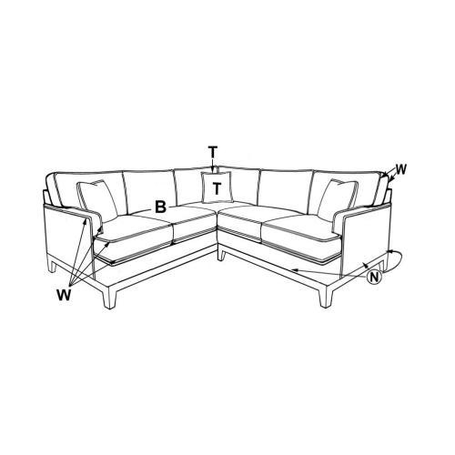 Capris Furniture - 5230 CORNER SECTIONAL PIECES