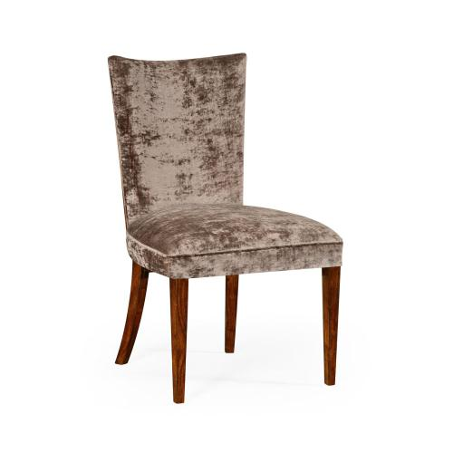 Biedermeier Style Dining Side Chair with Fine MOP & Marquetry Inlay