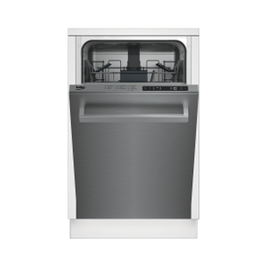BekoSlim Size Stainless Dishwasher, 8 place settings, 48 dBa, Top Control