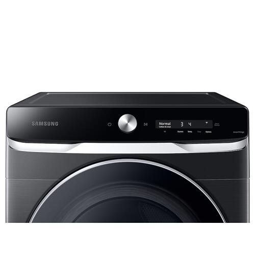 Samsung - 7.5 cu. ft. Smart Dial Gas Dryer with Super Speed Dry in Brushed Black