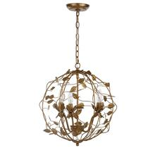Austen Cage Chandelier - Gold Leaf