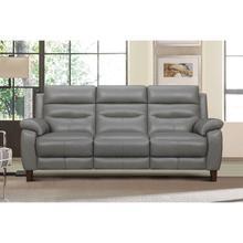 "See Details - Hayward 82"" Dark Gray Genuine Leather Power Reclining Sofa"