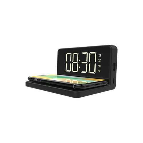 FAST WIRELESS CHARGER WITH DUAL ALARM CLOCK