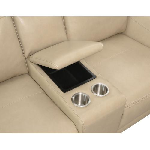 Doncella Dual-Power Reclining Console Loveseat