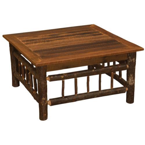 """Open Coffee Table - 34"""" x 34"""" - Barnwood"""