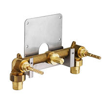 Dual Control Wall-Mounted Bathroom Faucet Rough Valve - No Finish