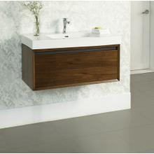 """See Details - m4 36x18"""" Wall Mount Vanity - Natural Walnut"""