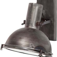 Taza 10.3x12 Gray Metal Dome Shade Wall Sconce