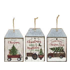 Santa's Ride - Hanging Plaques (6 pc. ppk.)