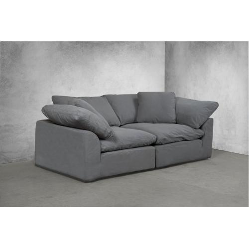Cloud Puff Slipcovered Modular Sectional Sofa - 391094 (2 Piece)