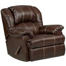 Exceptional Designs by Flash Brandon Brown Leather Rocker Recliner