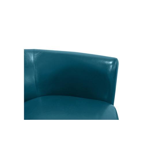 Porter International Designs - Marvel Teal Blue Swivel Accent Chair, AC213