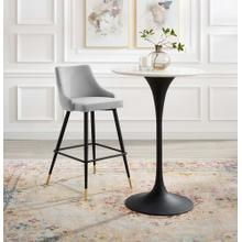 Adorn Performance Velvet Bar Stool in Light Gray