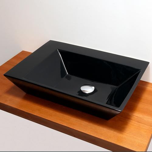 """Wall-mount or above-counter porcelain Bathroom Sink without an overflow, one faucet hole, 24 3/4""""w, 17""""d, 5 1/4""""h"""