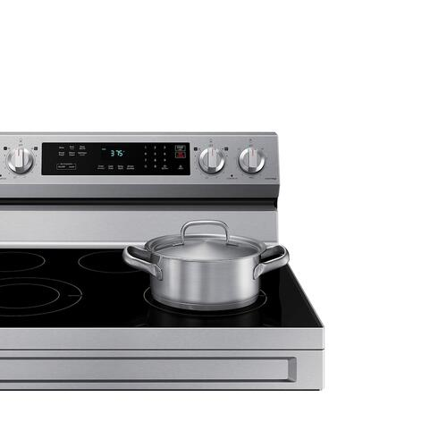 6.3 cu. ft. Smart Freestanding Electric Range with Rapid Boil™ & Self Clean in Stainless Steel