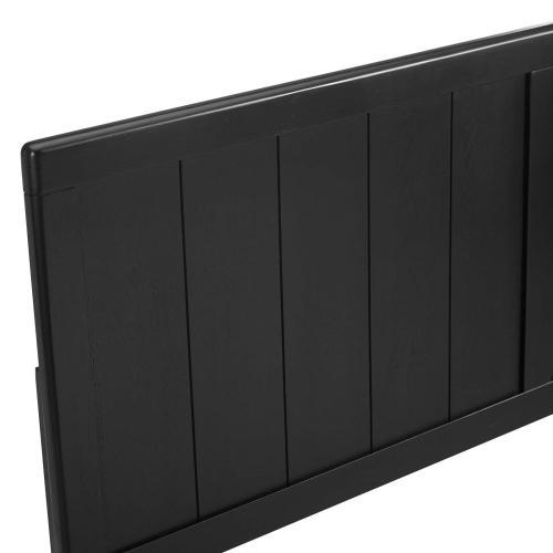 Robbie Full Wood Headboard in Black