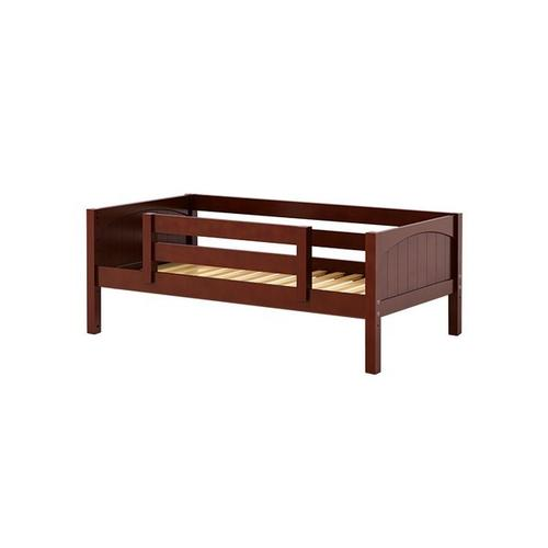 Daybed w/ Back and Front Safety Rails : Twin : Chestnut : Panel