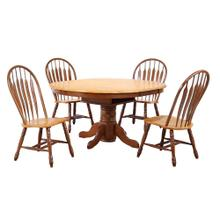 See Details - Pedestal Dining Set w/Comfort Back Chairs (5 Piece)