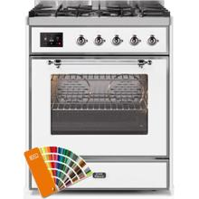 Majestic II 30 Inch Dual Fuel Natural Gas Freestanding Range in Custom RAL Color with Chrome Trim