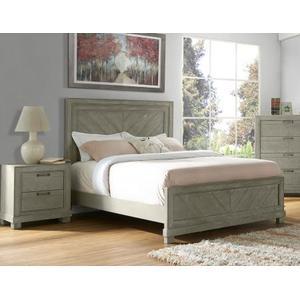 Montana Queen Bed, Grey