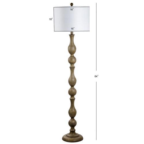 Glendora Floor Lamp - Brown Wooden Finish