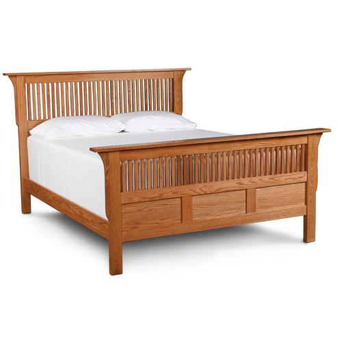 Prairie Mission Paneled Slat Bed, Queen