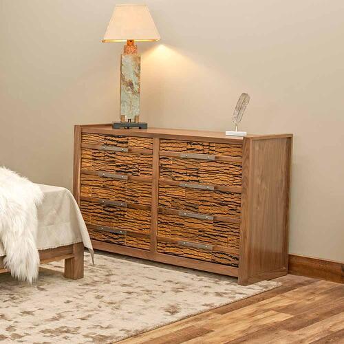Riley 8 Drawer Dresser With Bark Tile