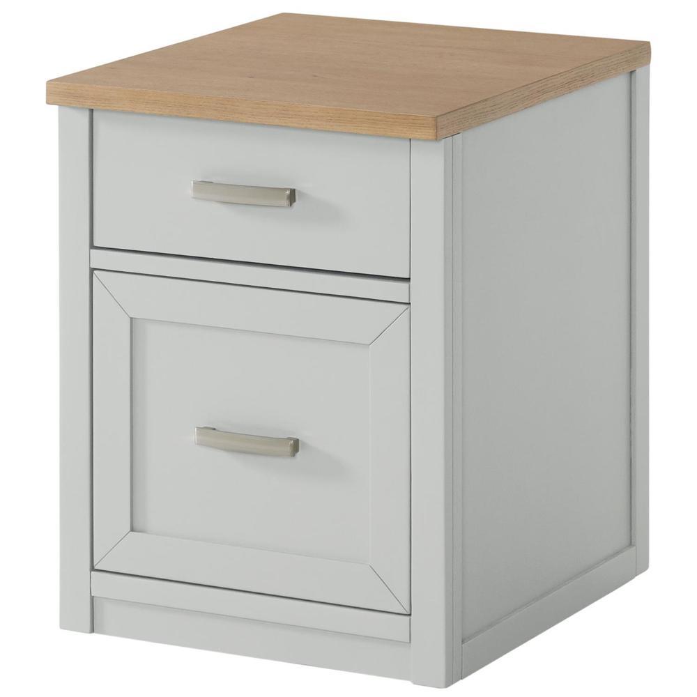 See Details - Osborne - Mobile File Cabinet - Timeless Oak/gray Skies Finish