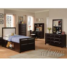 Espresso Finish Full Size Microfiber Bedroom Set