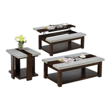 Cement Stone Coffee & End Table Set