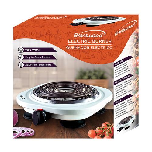 Brentwood - Brentwood TS-321W 1000w Single Electric Burner, White
