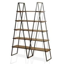 Five Tier Live Edge Shelving Unit  72in X 53in X 14in  Bookcase
