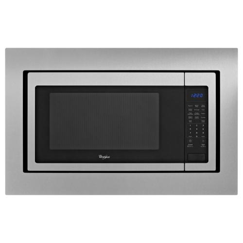 30 in. Microwave Trim Kit - Black-on-Stainless