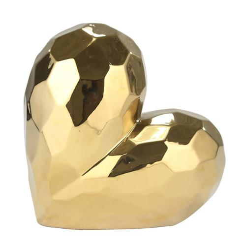 "Gold Ceramic Heart 11.5"""