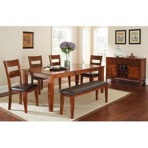 """Mango 60-78 inch Dining Table w/ 18"""" Butterfly Leaf Light Oak"""