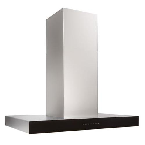 Ispira 36-in. 650 Max CFM Stainless Steel Island Range Hood with PURLED Light System and Black Glass