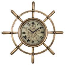 See Details - Ship's Wheel Wall Clock