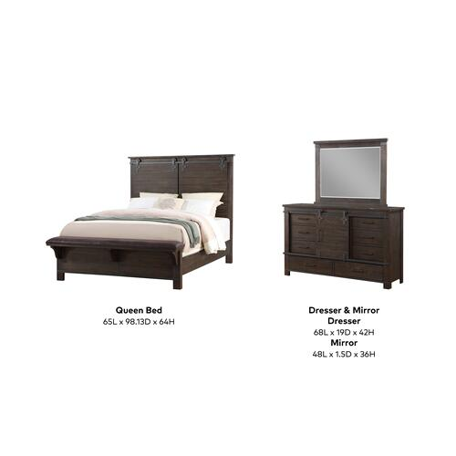 Newton 3 Piece Queen Bedroom Set, Cocoa Brown 2623-queen-3pc-k