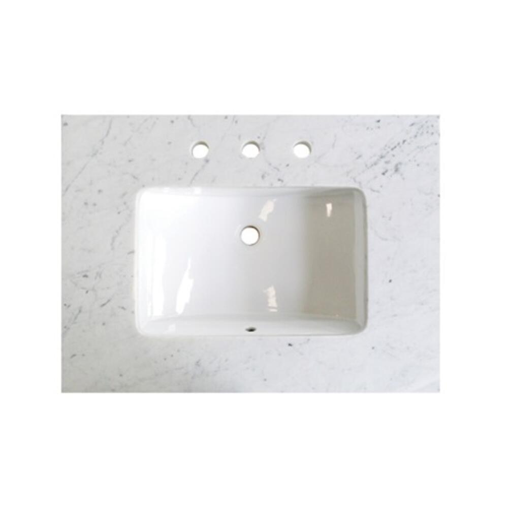 "3cm (1-1/4"") 30"" White Carrera (WC) Marble Top"