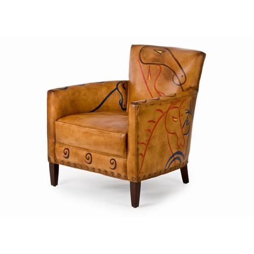 Norvell Ancient Thunder Horse Painting Chair