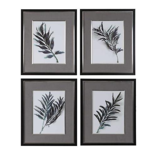 Eucalyptus Leaves Framed Prints, S/4
