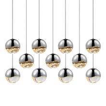 Grapes® 11-Light Rectangle Large LED Pendant
