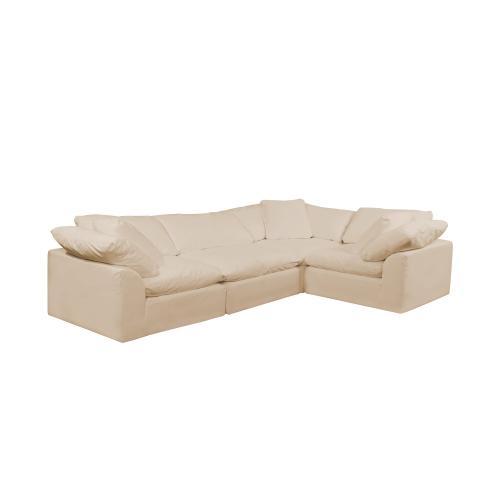 Cloud Puff Slipcovered Modular L Shaped Sectional Sofa - 391084 (4 Piece)