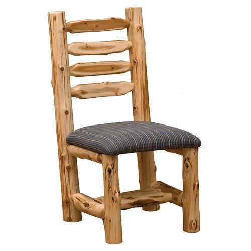 Side Chair - Natural Cedar - Customer Fabric