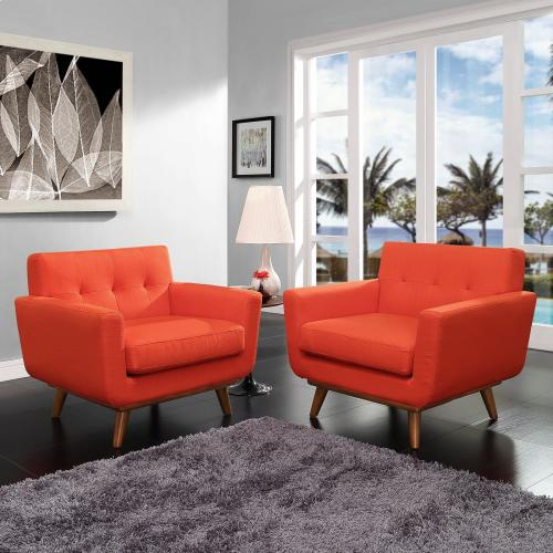 Engage Armchair Wood Set of 2 in Atomic Red
