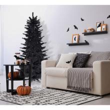 Fraser Hill Farm 5-Ft. Spooky Black Tinsel Tree, No Lights, HH050TINTREE-0BLK