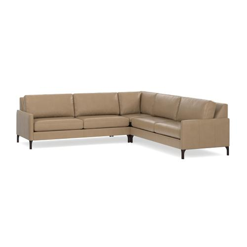 Gallery - Serafina Leather L-Shaped Sectional